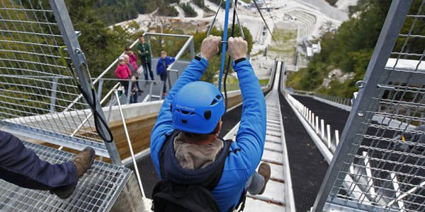 Active family holidays zip line