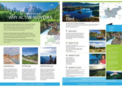 free active holidays plan slovenia sample